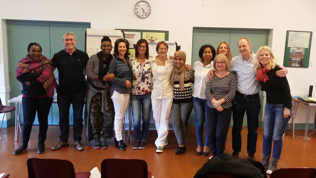 Barbara with graduates of EMDR Module 3 on 13th May 2017 in London