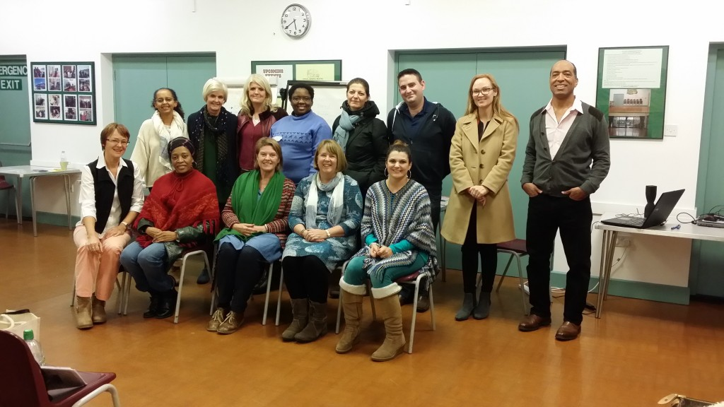 Barbara and Joshua with graduates of EMDR Module 3 on 27th November 2016 in London