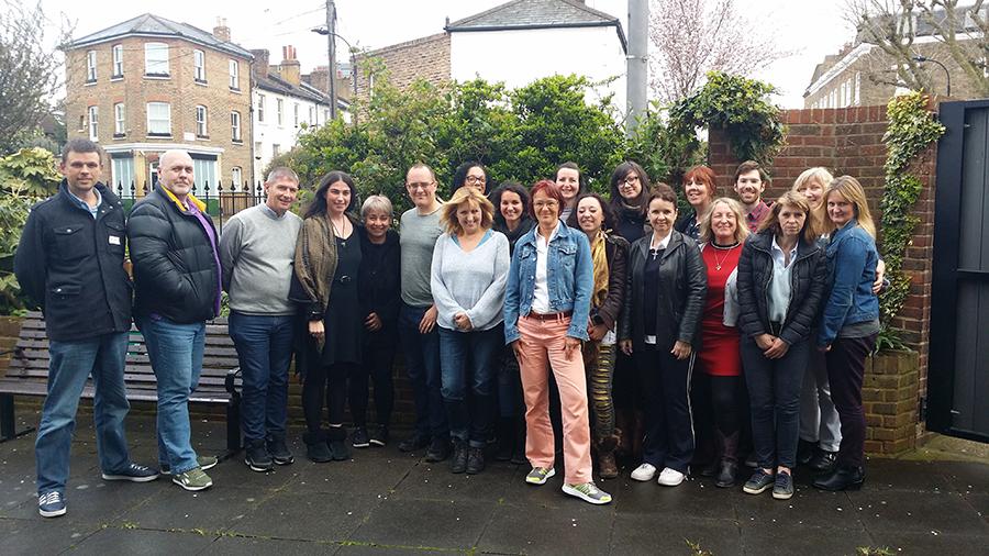 Barbara with graduates of EMDR Module 1 - April 2018 in London